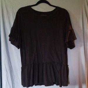 Bell-Sleeve Black Shirt